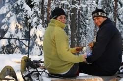 Snowshoe walking in Helsinki area