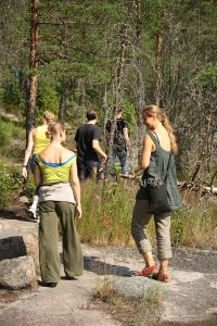Hiking in Nuuksio National Park