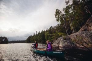 Canoeing in Nuuksio near Helsinki