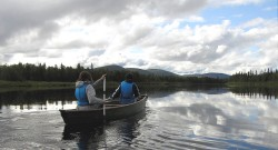 Canoeing in Lapland, Finland