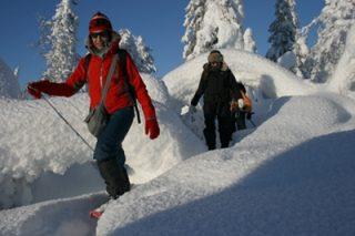 Lumikenkävaellus Lapissa