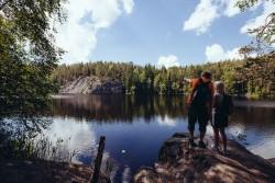 Hiking in Nuuksio National Park, Foto: Outdoors Finland Etelä