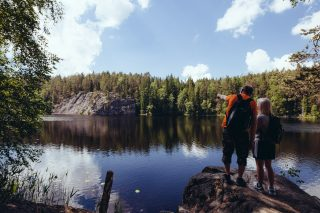 Hiking in Nuuksio National Park, Foto: Outdoors Finland Etelä