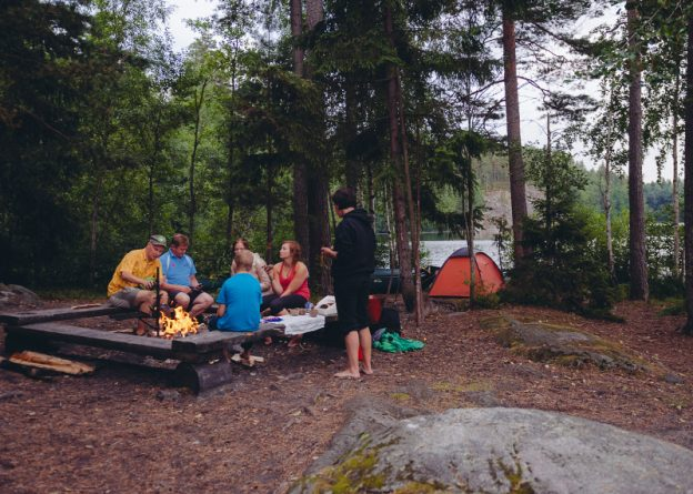 Camp in Nuuksio National Park