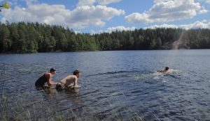 Swimming in Nuuksio