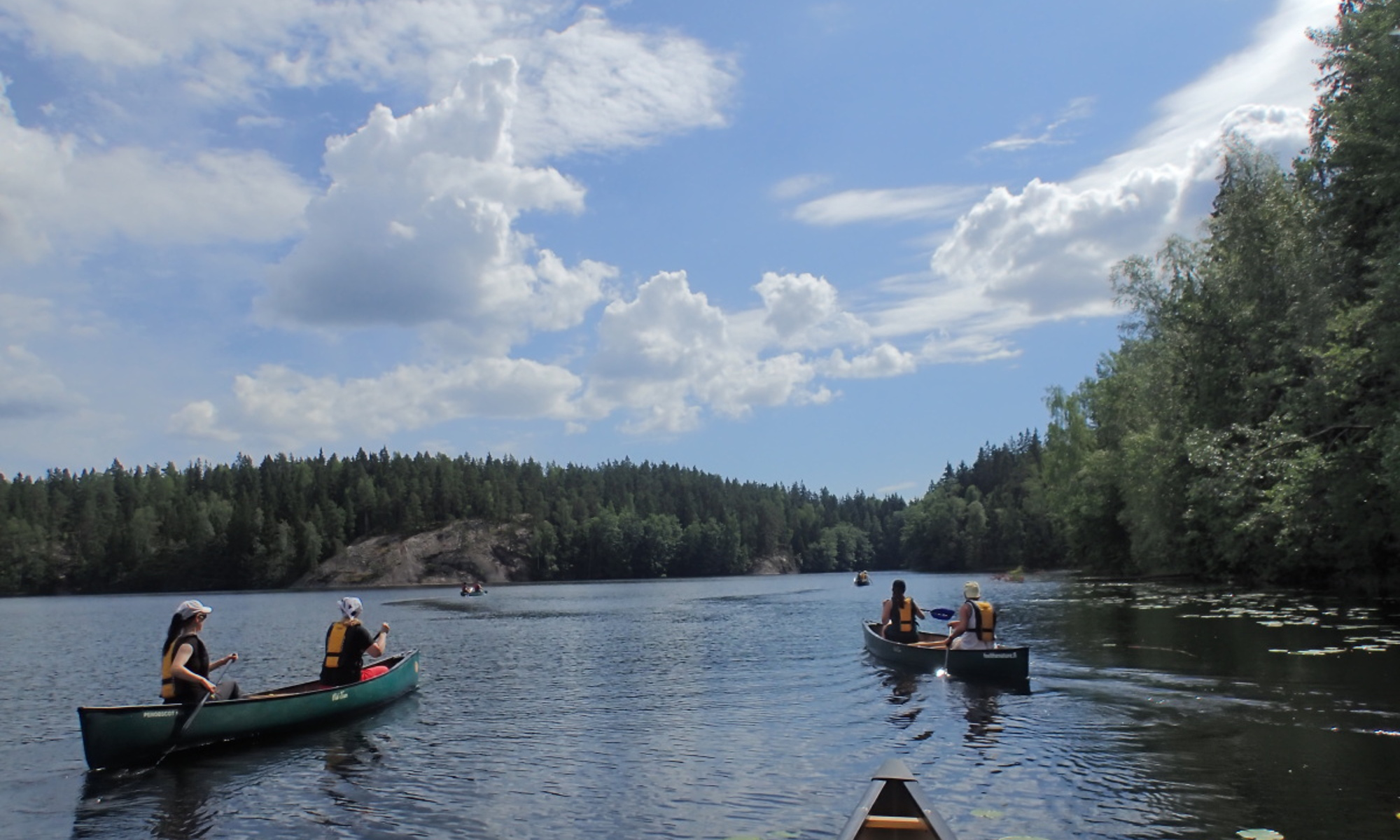 Wilderness Canoeing and Hiking Adventure in Nuuksio National Park