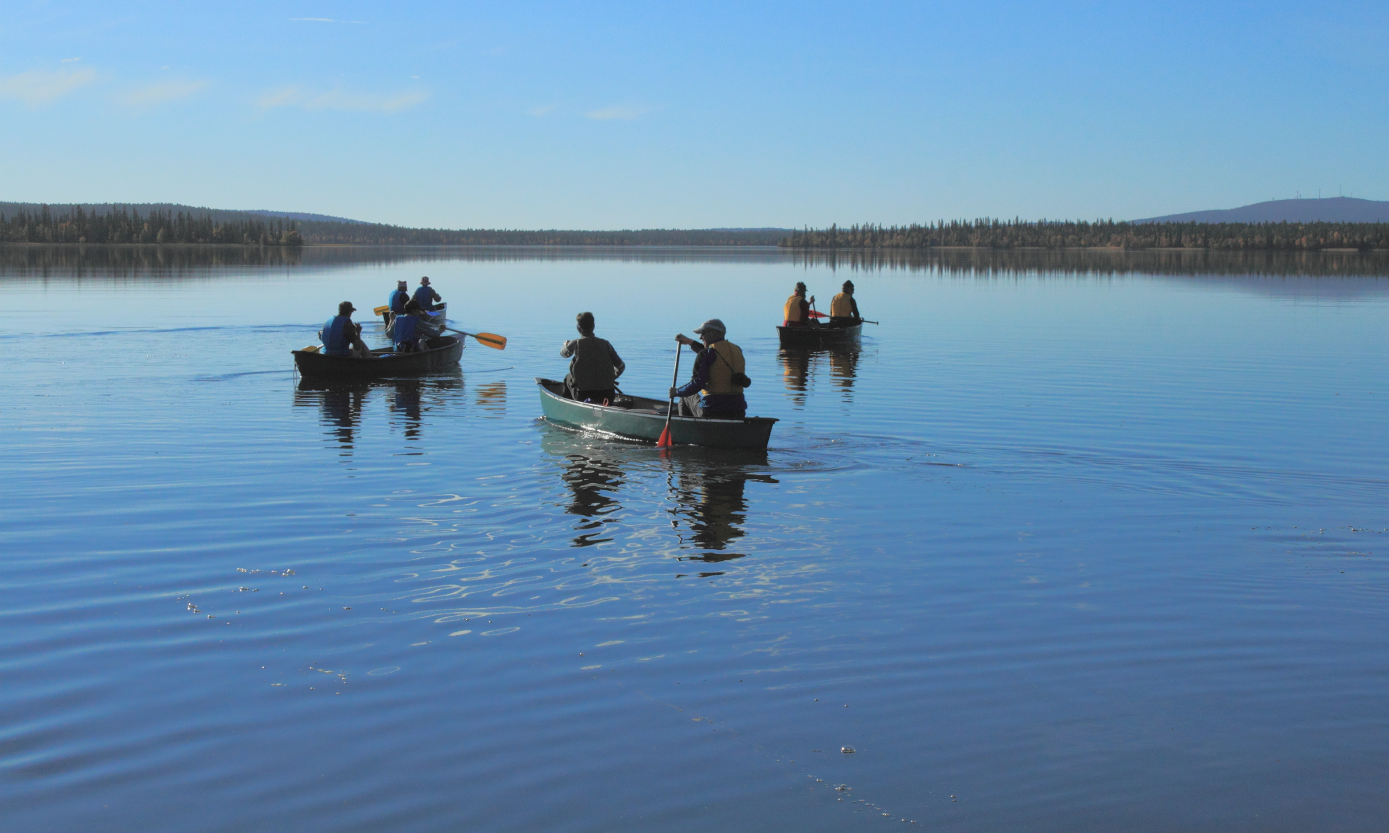 Canoeing and hiking week in Lapland