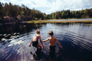 Swimming in Nuuksio National Park
