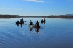 Canoeing-Lapland