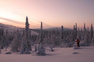 Midwinter-Ski-tour-in-Lapland